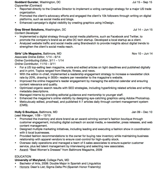 Karmen Fox Resume August 2016 2